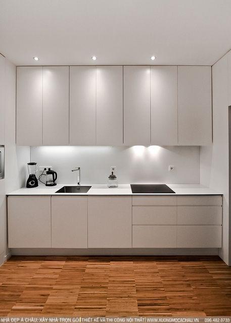 Mẫu thiết kế tủ bếp tông màu xám