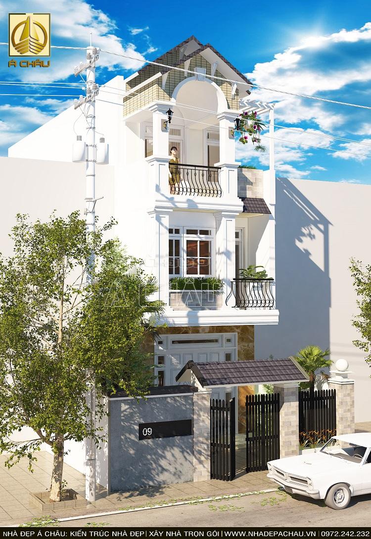 Thiết kế nhà đẹp 2 tầng tân cổ điển