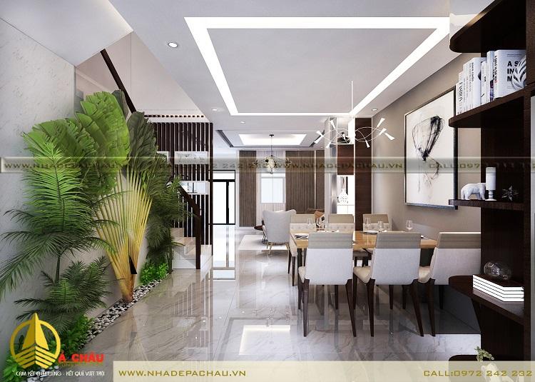 Thiết kế nội thất biệt thự tầng trệt