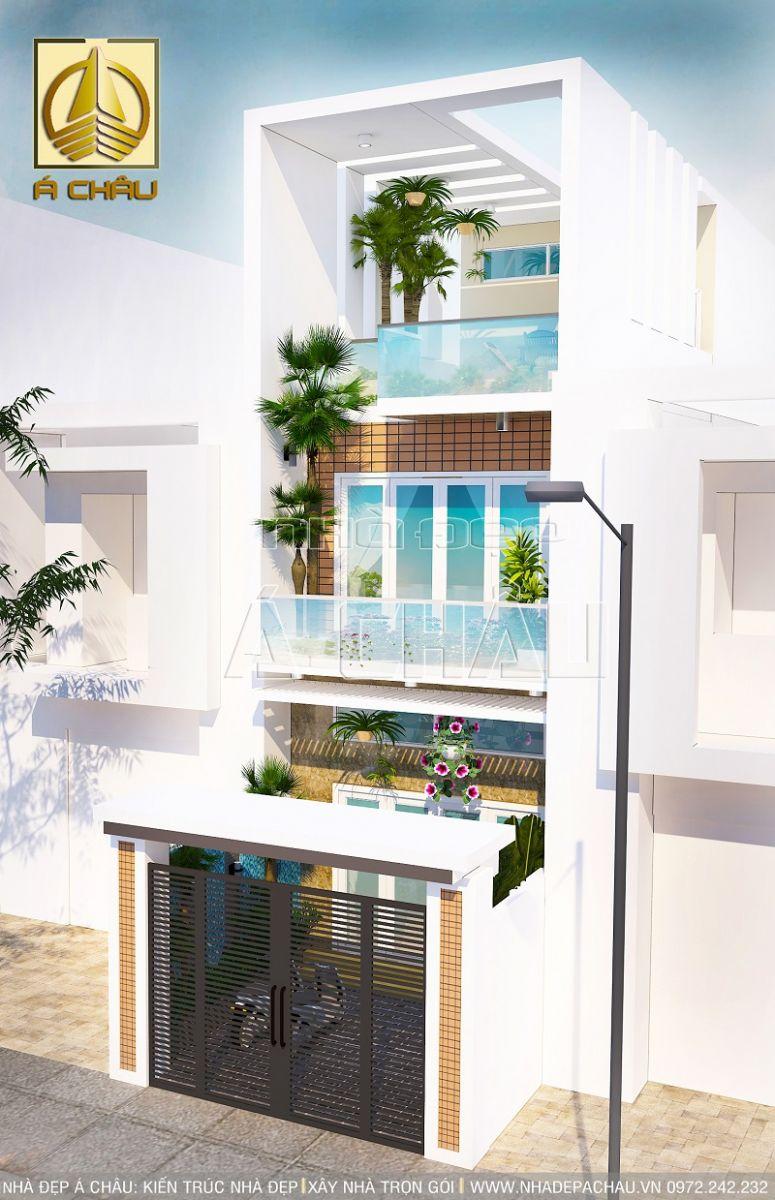 thiết kế nhà phố 2 tầng đẹp Quận Bình Thạnh