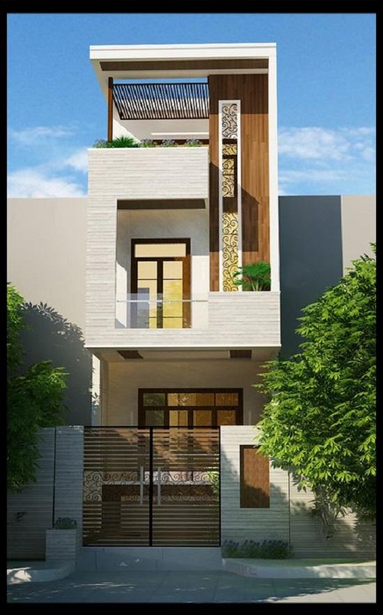 Thiết kế nhà  đẹp 2 tầng hiện đại
