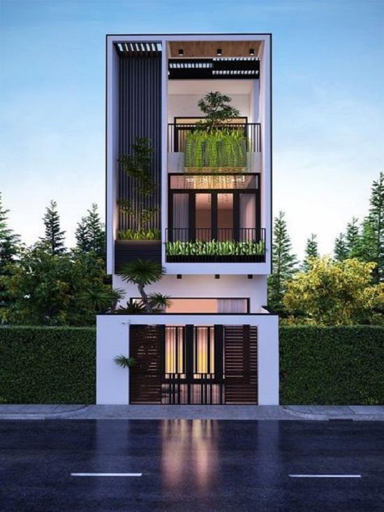 Thiết kế nhà đẹp 2 tầng hiện đại chất lượng và uy tín