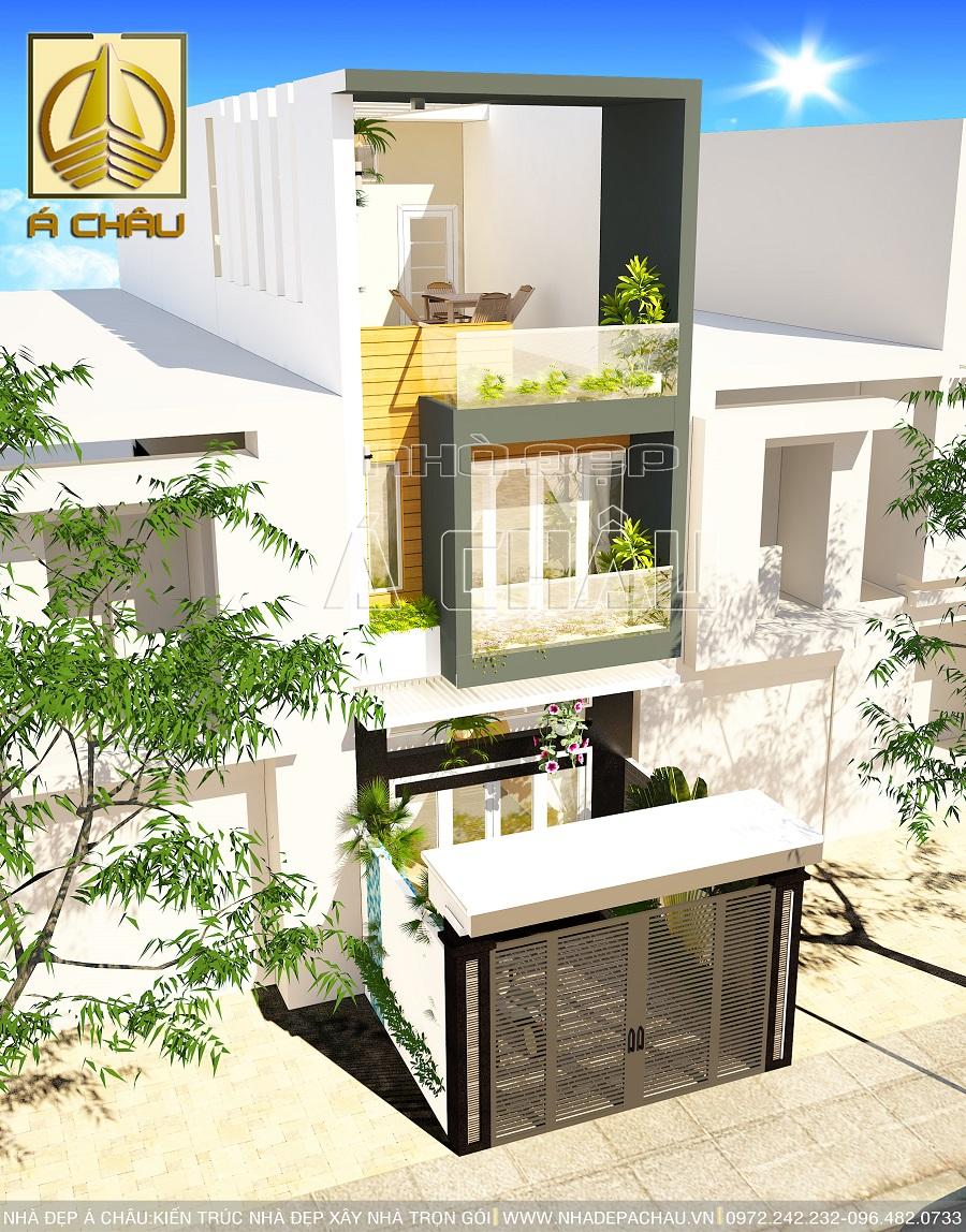 Thiết kế nhà đẹp 4x16 anh Long Quận Bình Thạnh