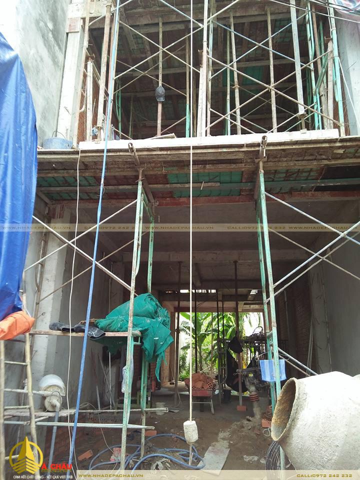 Thi công xây dựng nhà phố anh Hậu Quận 9