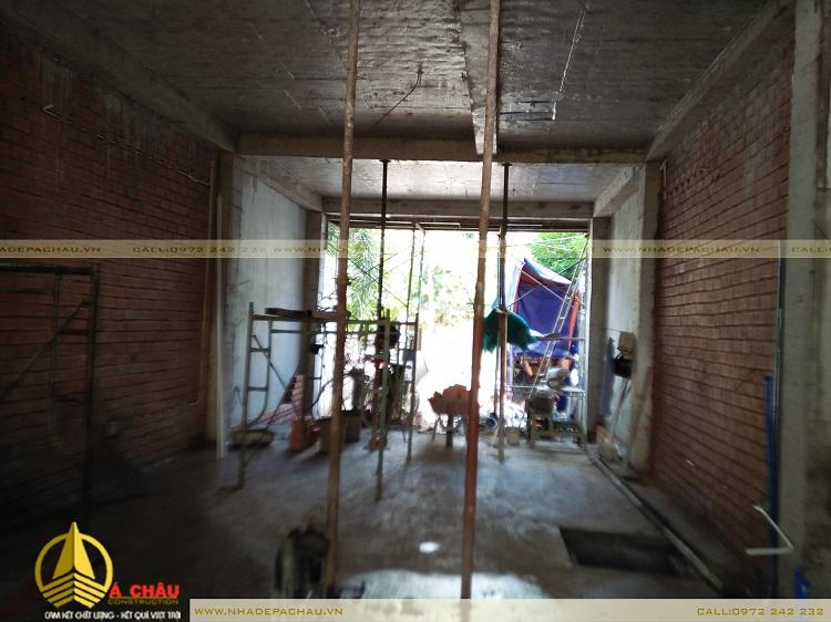 quá trình xây tô tường nhà anh hậu