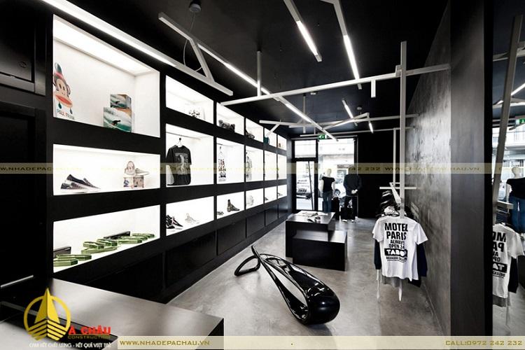 Shop thoi trang thiết kế trắng đen Quận Tân Bình TPHCM