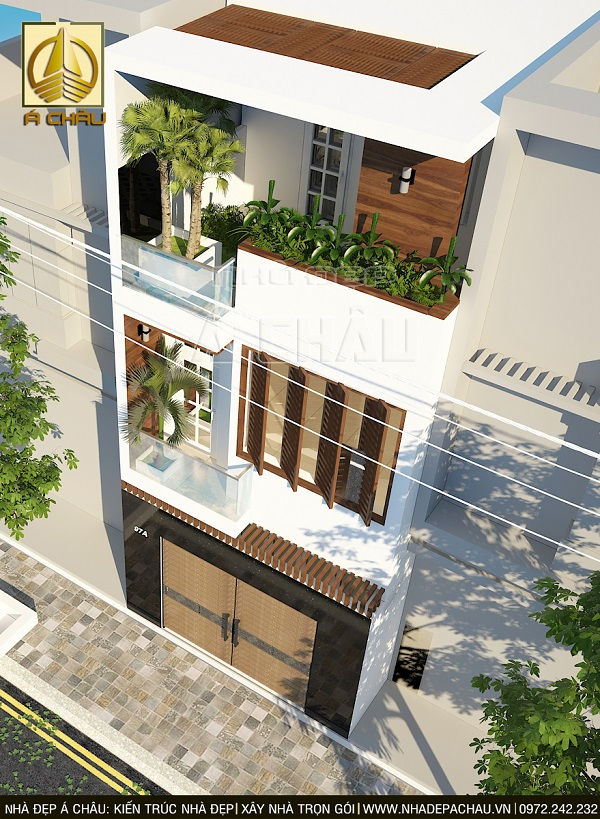 Thiết kế nhà phố 2 tầng đơn giản và hiện đại tại tphcm