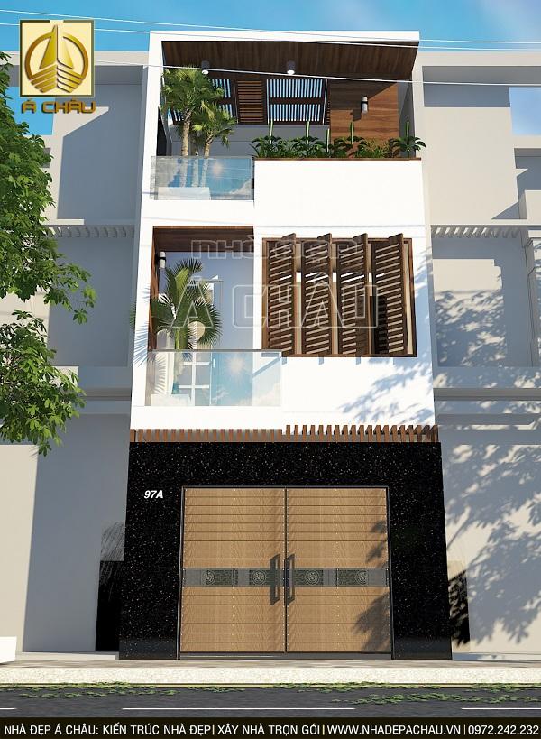Thiết kế nhà 2 tầng hiện đại đơn giản