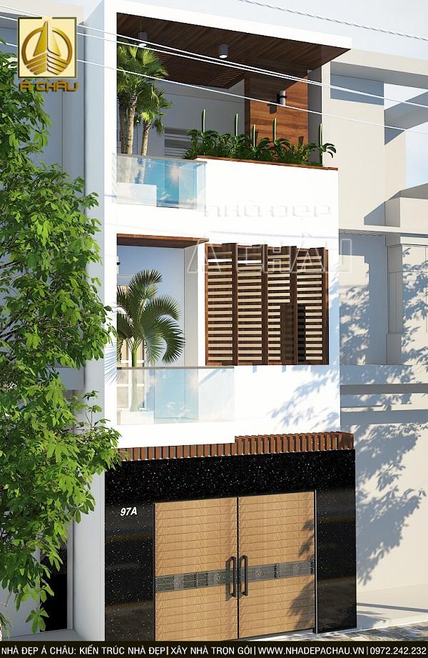 Mẫu thiết kế nhà phố 2 tầng đơn giản 4x10m,