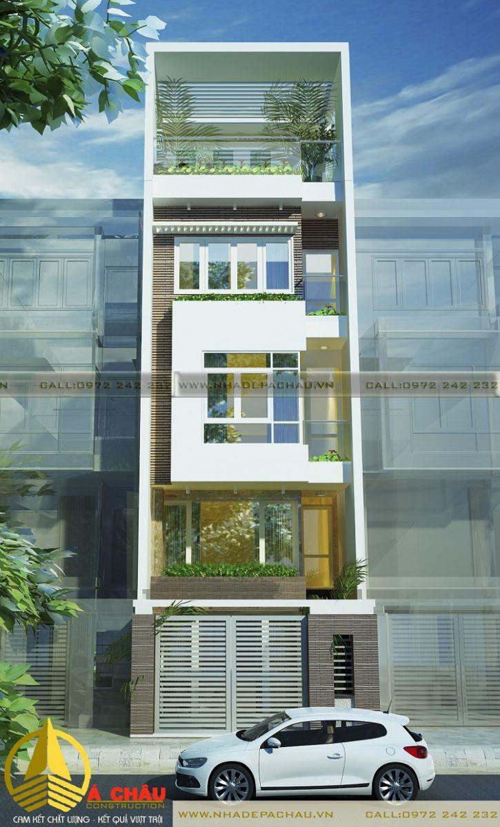 thiết kế nhà phố hiện đại quận 12