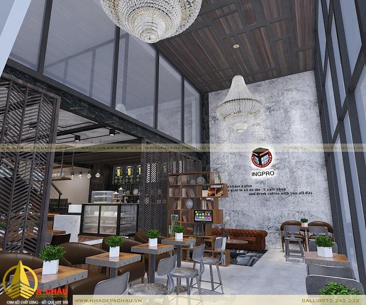 Thiết kế quán cafe đẹp với những vật liệu gần gũi thiên nhiên