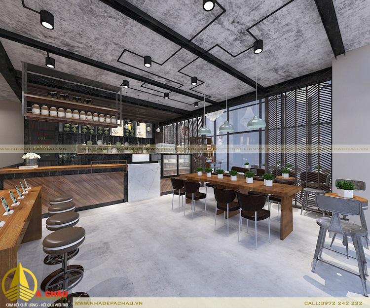 Thiết kế quán cafe với ánh sáng tự nhiên cảm giác thông thoáng thư giãn