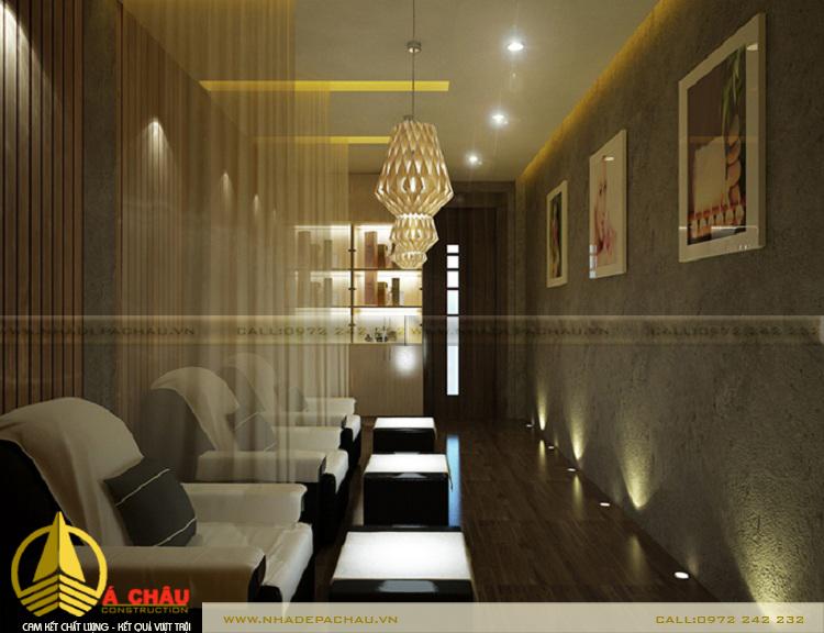 Thiết kế phòng massage tông màu xám