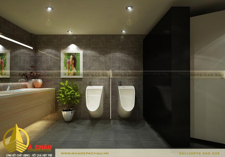 Thiết kế phòng toilet nam