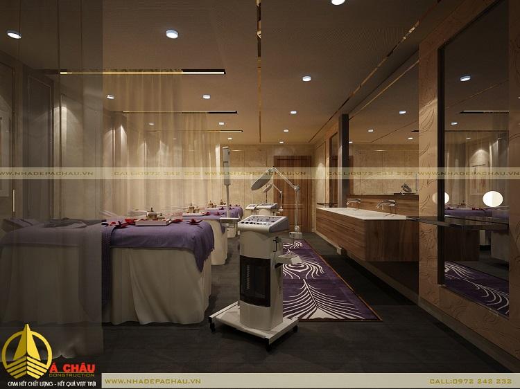 thiết kế phòng massage body 3 giường